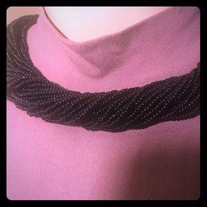Black Multi Layered Necklace w/ Black Earrings